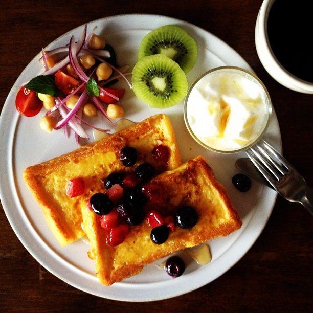Today's breakfast. French toast. - @keiyamazaki | Webstagram