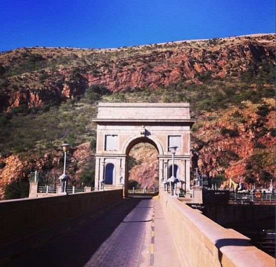 Our own little version of the Arc de Triomphe out at Hartebeesport dam, South Africa