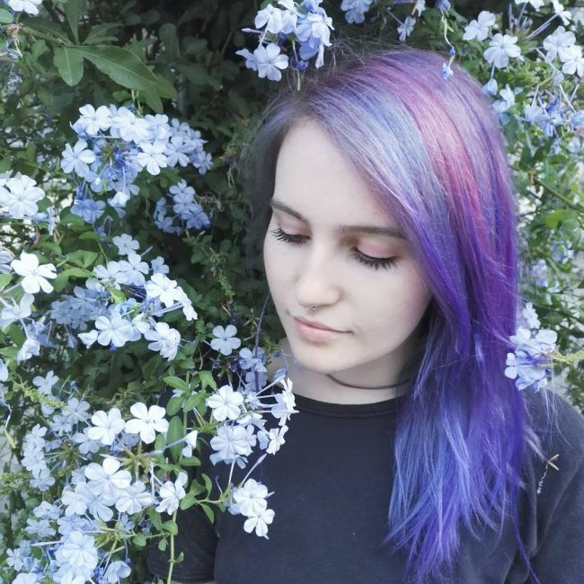Pale Dyed Strands Hair Color Styles Pinterest Violet