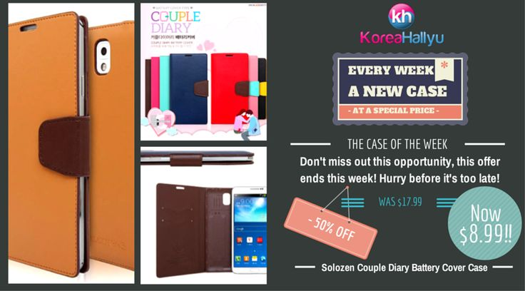 The Case of The Week   Solozen Couple Diary Battery Cover Case