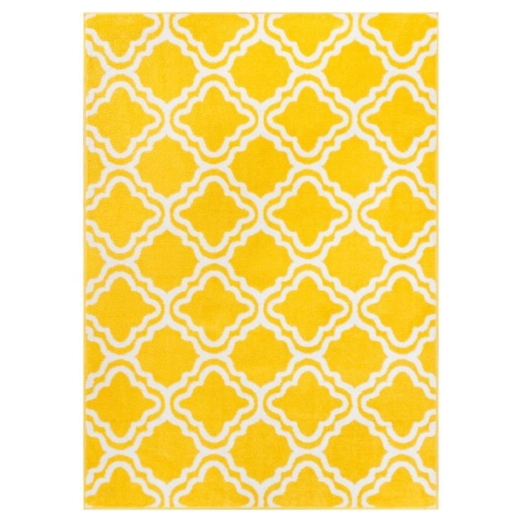 Well Woven Star Bright Calipso Kids Area Rug Yellow / White - 09417