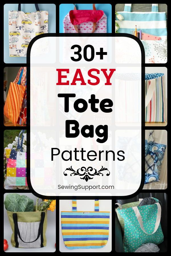 Tote Bag pattern. Over 30 simple shopping bag patterns, free DIY projects and sewing guides …   – Easy Sewing Patterns