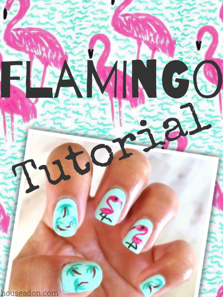 This quick and easy Flamingo Nail Art tutorial is perfect for this summer...tribute to all House Adon readers that have been popping up from all over...