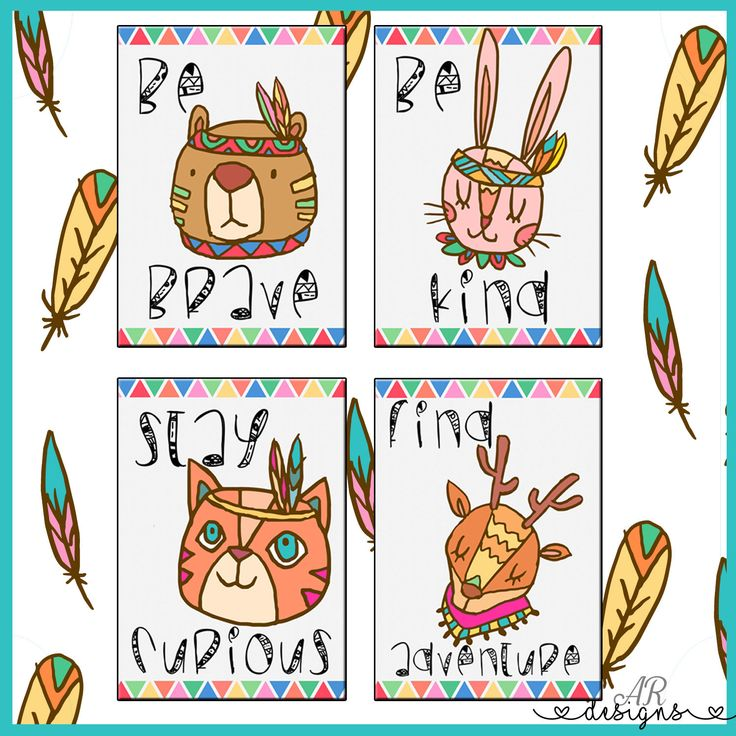 A personal favorite from my Etsy shop https://www.etsy.com/listing/531167168/nursery-print-set-cat-bear-rabbit-and