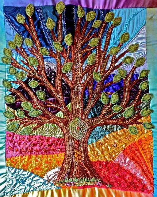 Tree Of Life Evening Star Designs Craziest Crazy Quilt