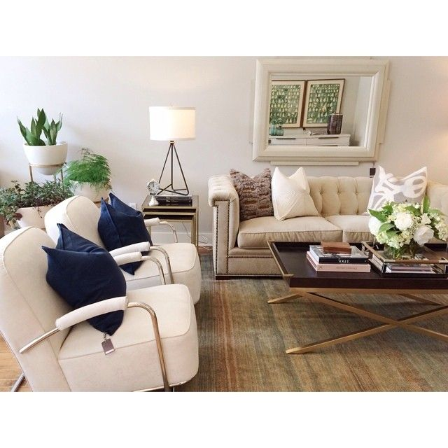 Alice Lane Home Collection Gold And Wood Tray Coffee Table Ivory Velvet Tufted Sofa