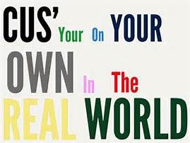 """Don't go crying to your mama cause your on your own in the real world."" - Ain't it Fun by Paramour"