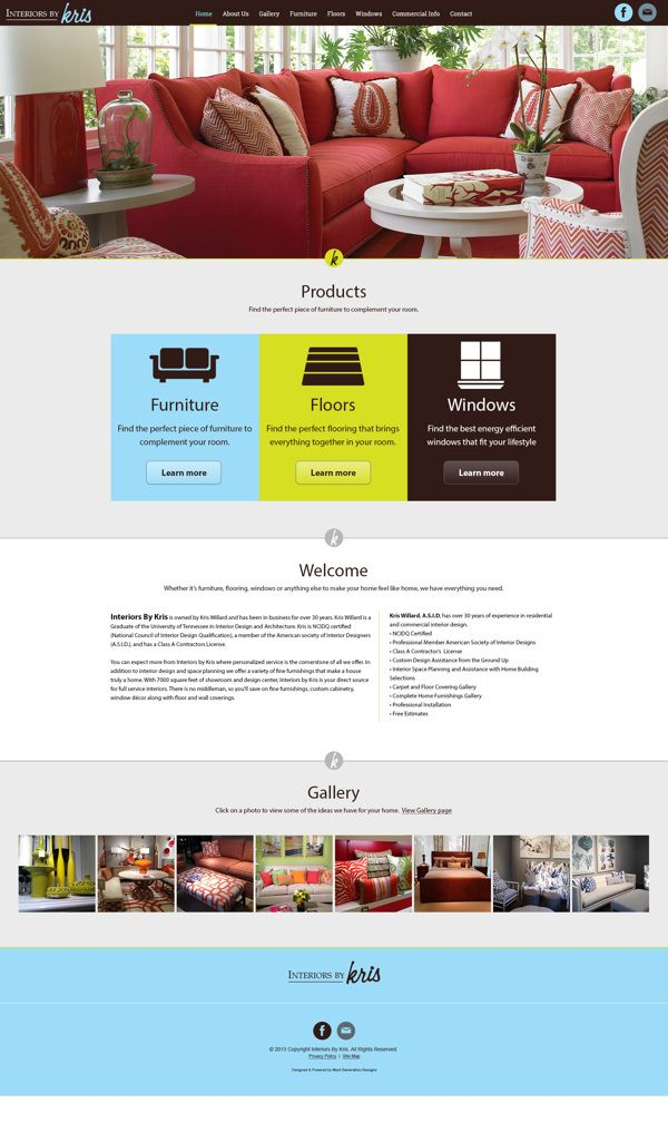 Interiors By Kris Responsive Website on Web Design Served