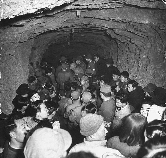 JUN  5 1941 Thousands die in Chungking raid. One of the worst ever single incidents in any air raid occurred when over 4,000 suffocated when air raid shelter tunnels were blocked during the raid on Chungking.