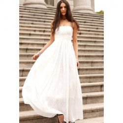 $13.90 Charming Strapless Party Chiffon Dresses For Women