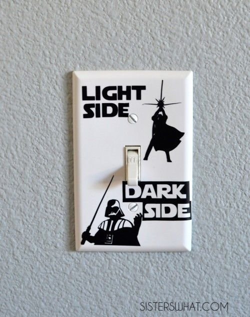 For Mike's star wars room.  He,he, he. 7 Fun And Inspiring DIY Star Wars Crafts For Home Décor