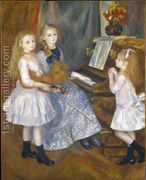 The Daughters Of Catulle Mendes  by Pierre Auguste Renoir