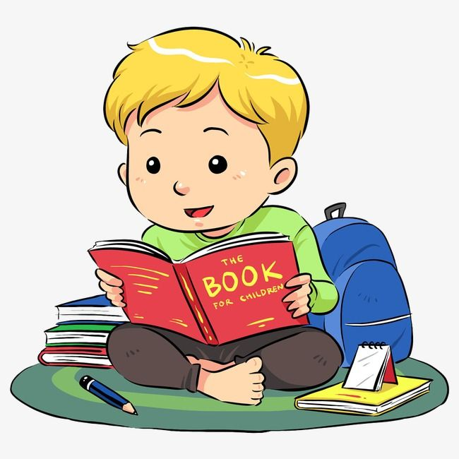 Reading Boy Boy Clipart Reading Clipart Hand Painted Png