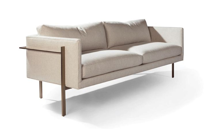 The Drop In Sofa (bronze) by Milo Baughman from Thayer Coggin #midcentury #midcenturymodern