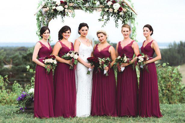 1000+ Ideas About Wine Bridesmaid Dresses On Pinterest