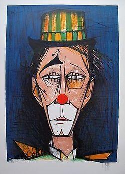 Very bad clown giving us the evil eye. If this was an animation, you just know he'd be bouncing that big eyebrow up and down, too. Original Description (NO IDEA what it says, grin): V beffa el palyaço bernard buffet yağlıboyalar İndirim İndirim müzik duvar dekoru duvar dekoru ayçiçek yağı eğitim sanat abs