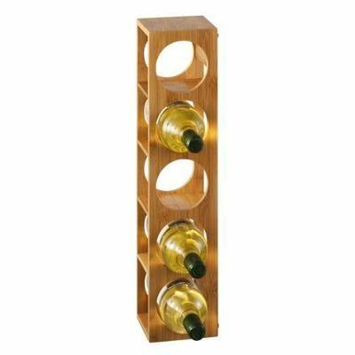 Zeller Present Handels GmbH 13565 Casier à vin en bambou 13,5 x 12,5 x 53 cm Import Allemagne - Casier à vin empilable en bambou Stable Diamètre des cases : 9 cm Possibilité d… Voir la présentation