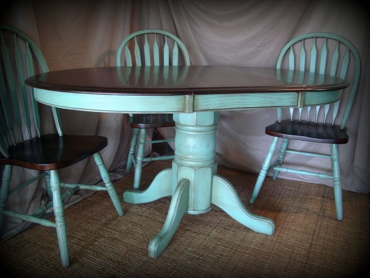 Kitchen table refinishing ideas pictures stained the for Painted kitchen table ideas
