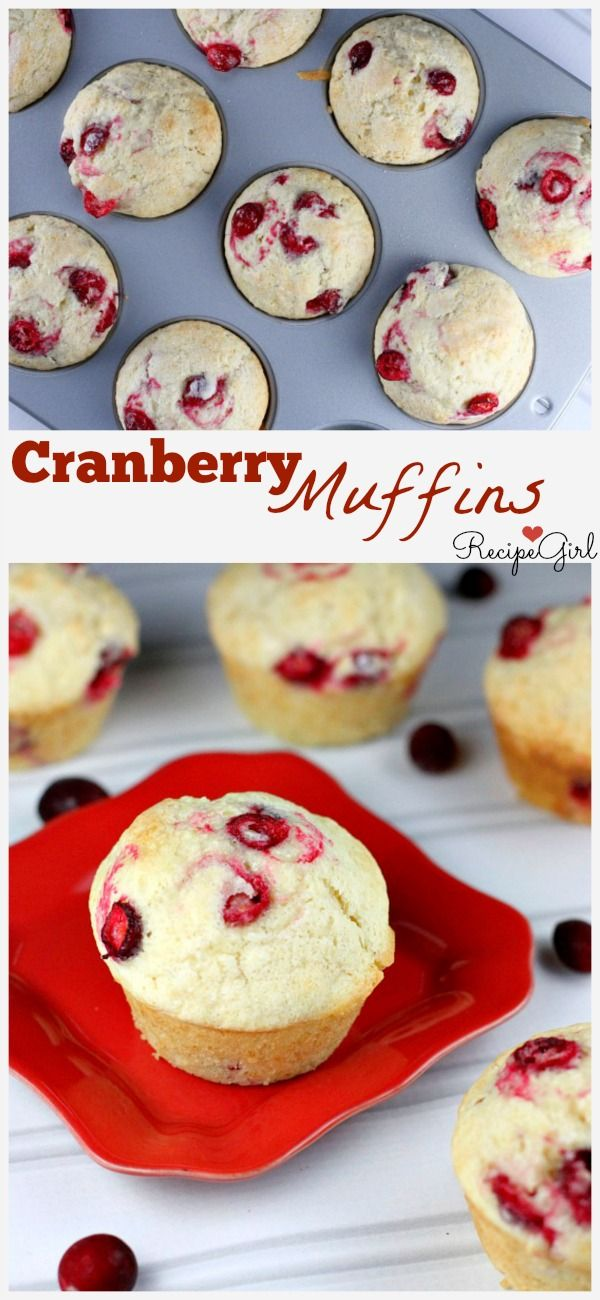 Cranberry Muffins #recipe - perfect breakfast or brunch recipe for a chilly fall morning!