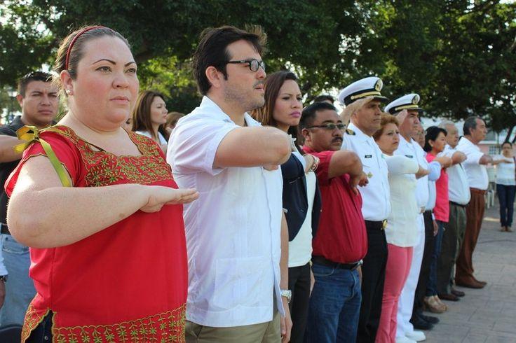 Conmemoran el XCVIII Aniversario de la promulgación de la Constitución Mexicana en Progreso