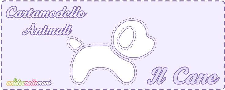 Cartamodelli Cane da stampare gratis: 3 sagome di cagnolino di varie misure da ritagliare su stoffa, feltro, pannolenci o carta per applicazioni e decorazioni.