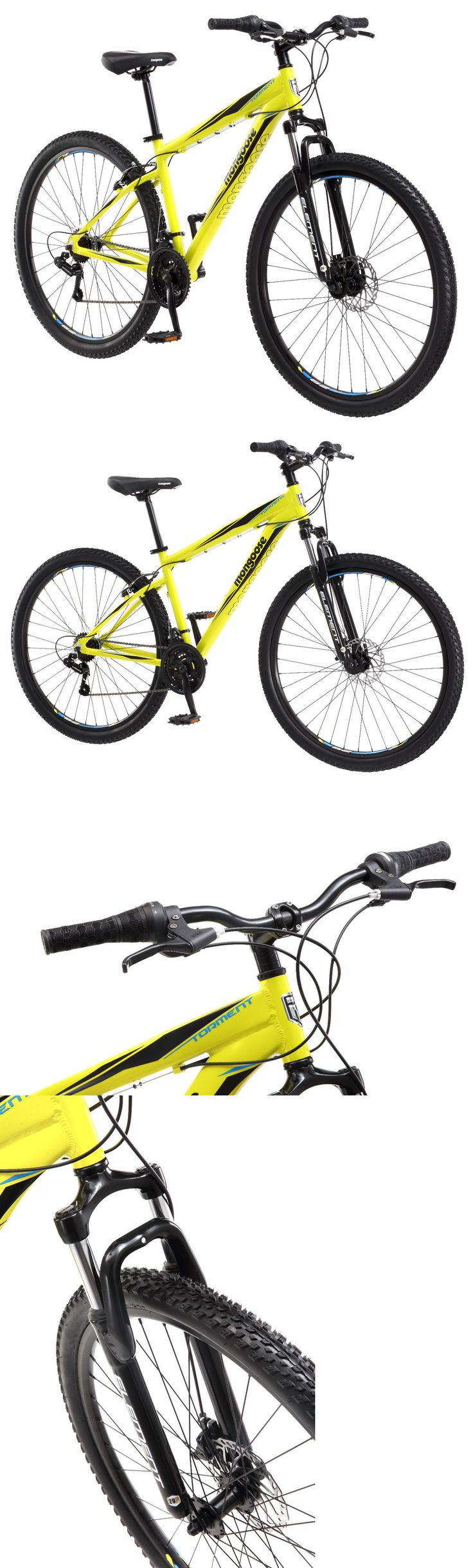 bicycles: 29 Mongoose Men S Torment Mountain Bike, Yellow -> BUY IT NOW ONLY: $169.99 on eBay!