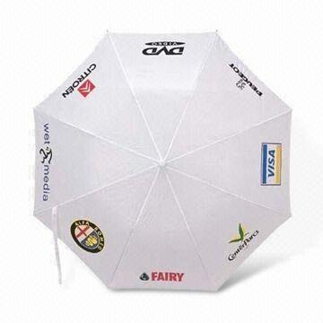Promotional Umbrella with 94 to 96cm Diameter, Nylon and Pongee Fabric