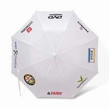 Promotional Umbrella with 94 to 96cm Diameter, Nylon and Pongee Fabric