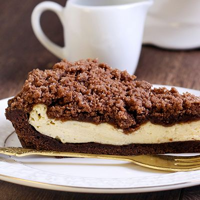 Reszelt túrós süti - Omlós, kakaós tészta krémes töltelékkel