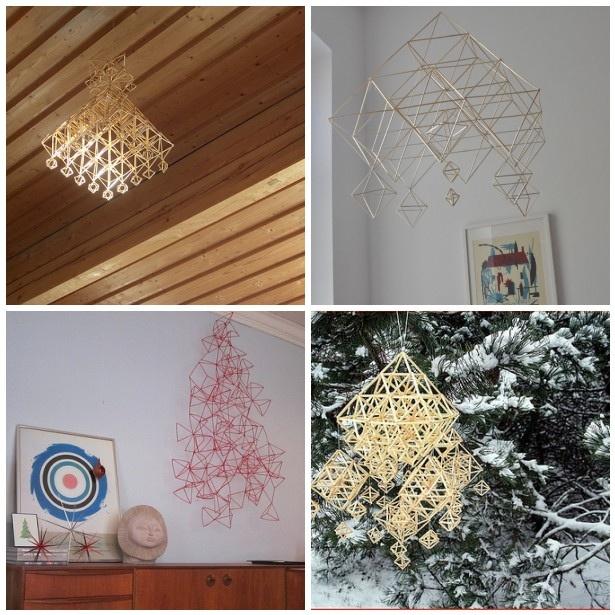 HImmeli- geometric straw ornaments