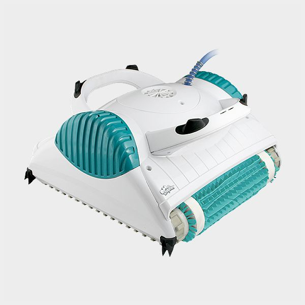der kompakte elektrische poolroboter dolphin starlux reinigt mit seiner kombib rste sowohl. Black Bedroom Furniture Sets. Home Design Ideas