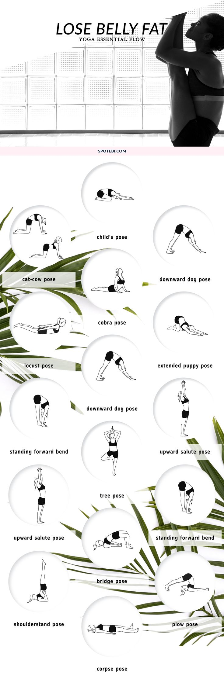 Lose Belly Fat and reduce cortisol levels with this 15-minute Yoga Flow for Beginners! https://www.spotebi.com/yoga-sequences/lose-belly-fat-flow/ via @spotebi