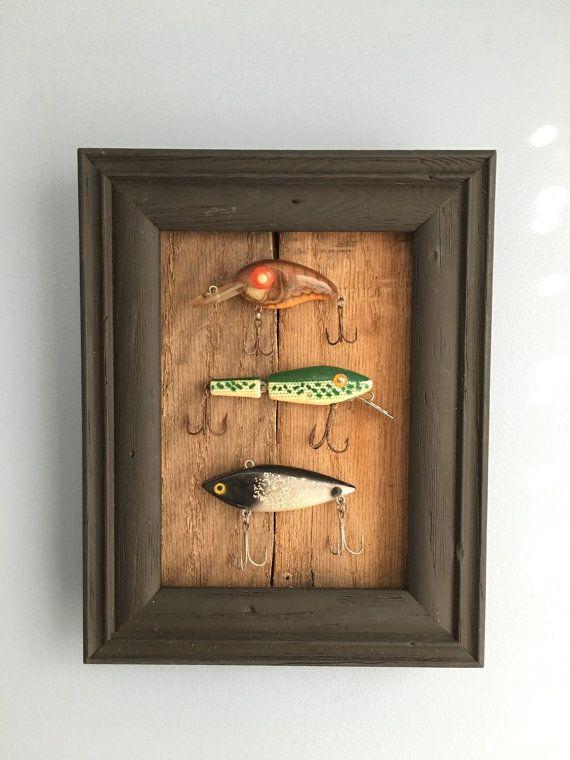 Vintage Fishing Lure Shadowbox