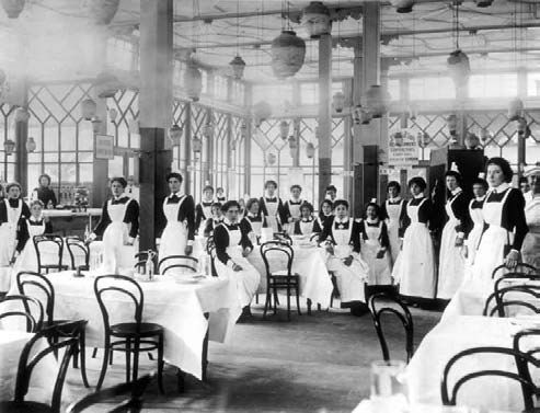 Lyons Tea Shop and waitresses, London, 1890's.