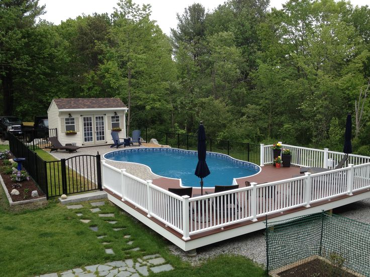 17 best ideas about semi inground pools on pinterest for Walk in inground pool