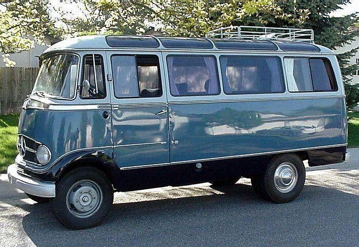 Vintage Mercedes van