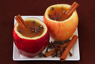 Apple cups for Thanksgiving refreshments!