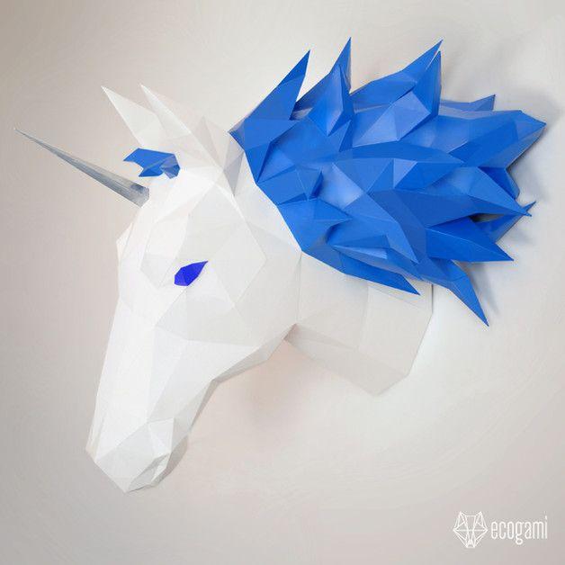 Trophée de licorne / cheval en papier sur DaWanda.com