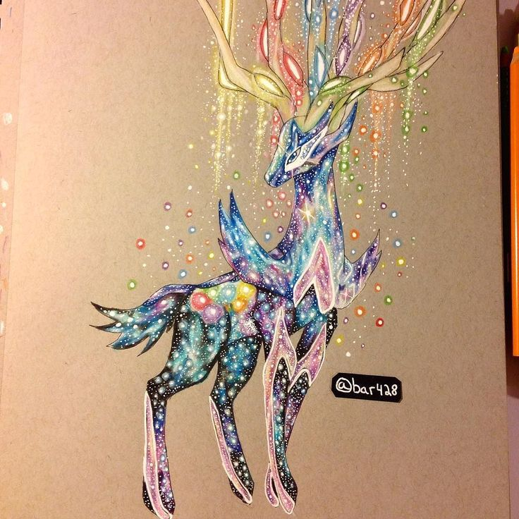 Galaxy Xerneas by bar428 so fairly! this might be a christmas mild deco!