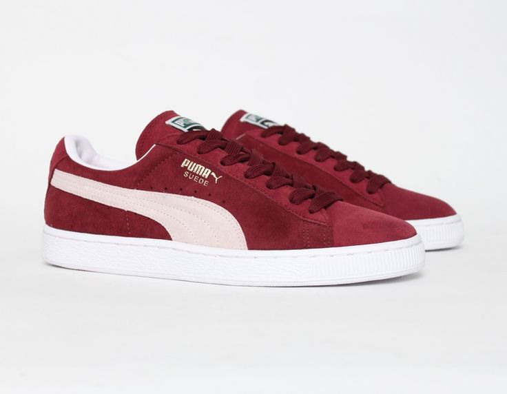 The first sneakers I've ever had: Puma Suede Burgundy <3