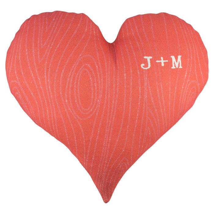 cute personalized heart pillow