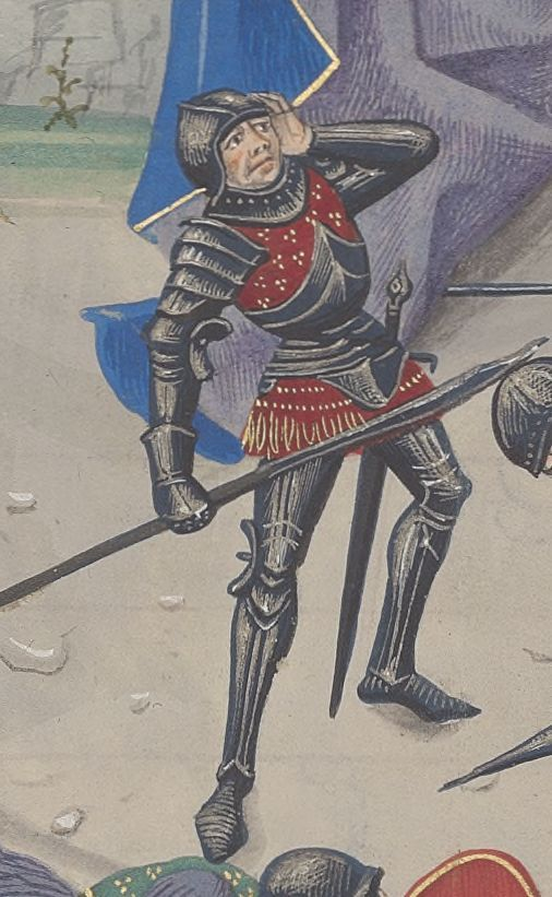 A composite armour with a cuirass of brigandine and plate likely to be constructed as one piece and worn with plate for both arms and legs.