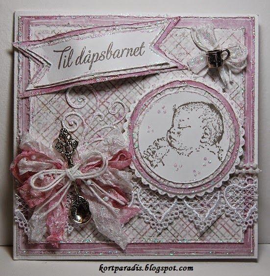 Handmade Håndlaget Scrapping Scrappe NorthStarStamps Kortparadis NorthStarDesign  Baby Babycard Dåp Dåpskort Korthobby.no Korthobby