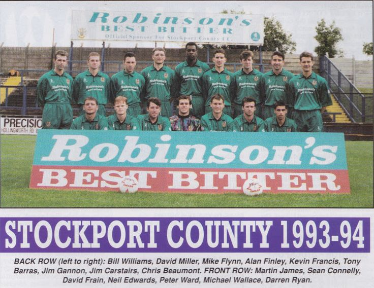Stockport County team group in 1993-94.