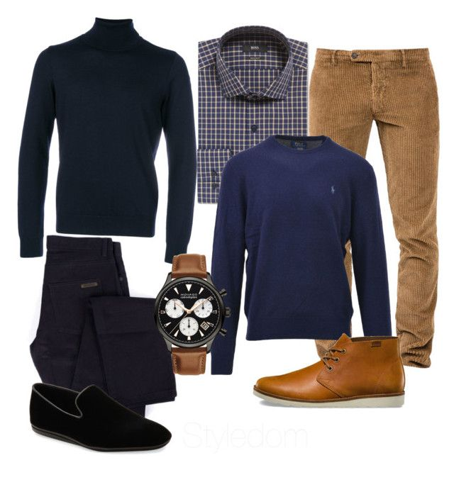 """Untitled #342"" by khouryolivia on Polyvore featuring Paul & Shark, Givenchy, Berwich, HUGO, Polo Ralph Lauren, Movado, Vans, Salvatore Ferragamo, men's fashion and menswear"