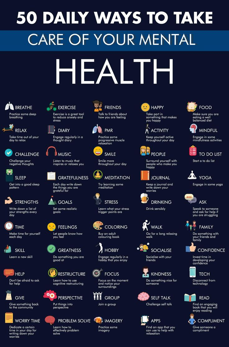 """BelievePerform on Twitter: """"50 ways to take care of your mental health https://t.co/DSevDZnaAL"""""""