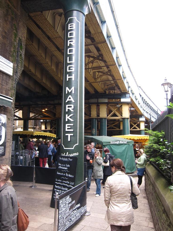 Borough Food Market near London Bridge