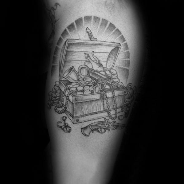 40 Treasure Chest Tattoo Designs For Men Valuable Ink Ideas Tattoo Designs Men Tattoos Chest Tattoo