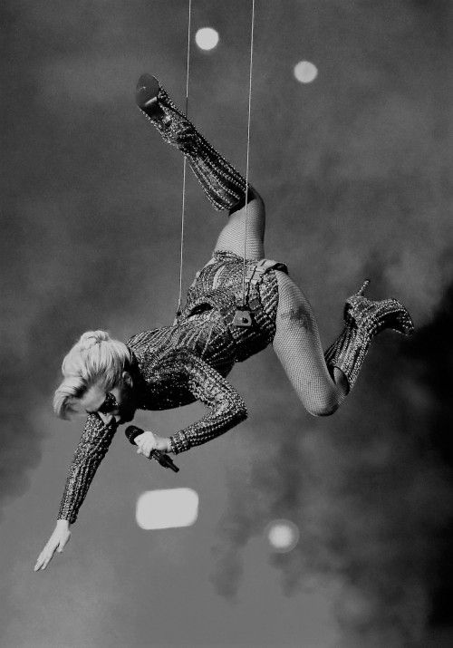 Lady Gaga performing at the Superbowl Halftime Show (2017)