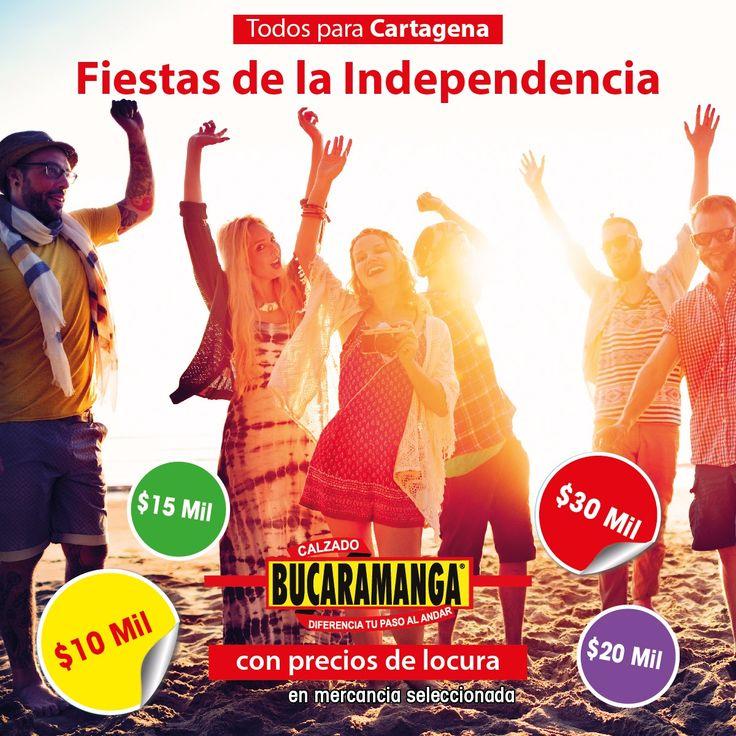 ¡Todos para #Cartagena! Calzado Bucaramanga tiene #precios de locura en las #FiestasDeLaIndependencia.  www.calzadobucaramanga.com webmaster@calzadobucaramanga.com